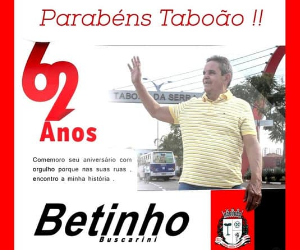 Betinho Buscarini aniversário Taboão 2021