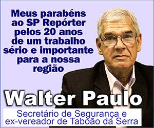 Anúncio Walter Paulo aniversário de 20 anos do jornal SP Repórter - Início da publicação em 22 de julho de 2020