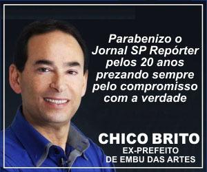 Anúncio Chico Brito aniversário jornal 2020