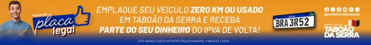 Prefeitura de Taboão da Serra - Placa Legal- 4/9/2021