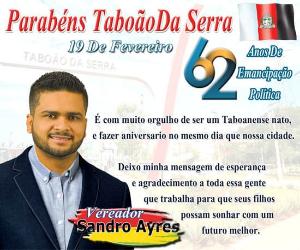 Sandro Ayres aniversário Taboão 2021