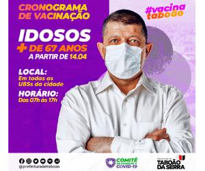 Prefeitura de Taboão da Serra Retângulo médio - Campanha de vacinação 10/4/21 a 16/4/21