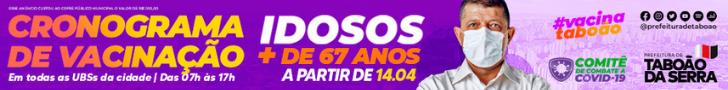 Prefeitura de Taboão da Serra - Campanha de vacinação 10/4/21 a 16/4/21