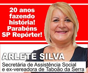 Anúncio Arlete Silva de aniversário do SP Repórter 2020 início em 26 de julho de 2020