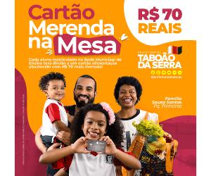 Prefeitura de Taboão da Serra Retângulo médio - Campanha Cartão Merenda 08/5/21