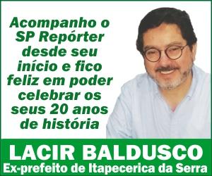 ANUNCIO LACIR BALDUSCO ANIVERSÁRIO SP REPÓRTER 20 ANOS