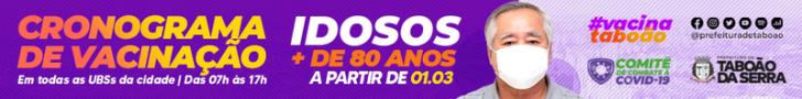 Prefeitura de Taboão da Serra vacinação COVID - Início em 26/2/2021