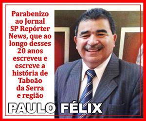 Anuncio Paulo Felix aniversário 20 anos jornal SP Repórter