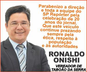 Anuncio Ronaldo Onishi aniversário do Jornal SP Repóter 2020