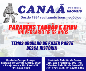 Canaã imóveis aniversário Taboão 2021