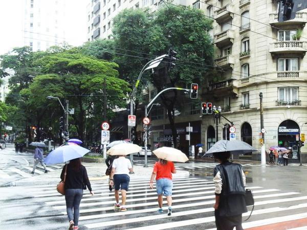 São Paulo: Chuva e ventos fortes atingiu a cidade na tarde desta quarta-feira,30