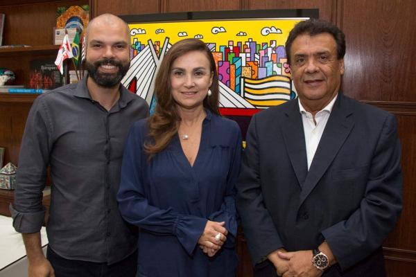 Deputada Analice e prefeito Fernando Fernandes se reúnem com prefeito de SP, Bruno Covas