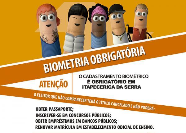 Biometria passa a ser obrigatória para eleitores de Itapecerica da Serra