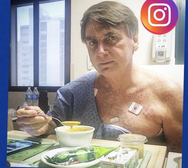 Presidente Bolsonaro divulgou foto pelas redes sociais almoçando e agradecendo orações
