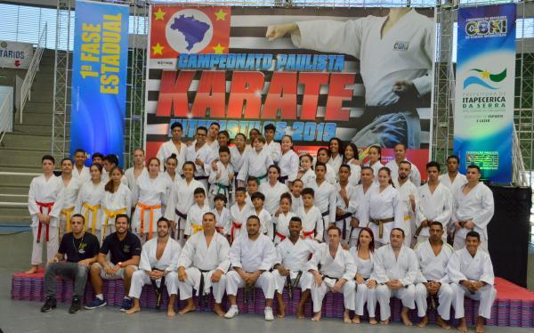 1ª Fase do Campeonato Paulista de Karate Interestilos 2019, é realizado em Itapecerica da Serra