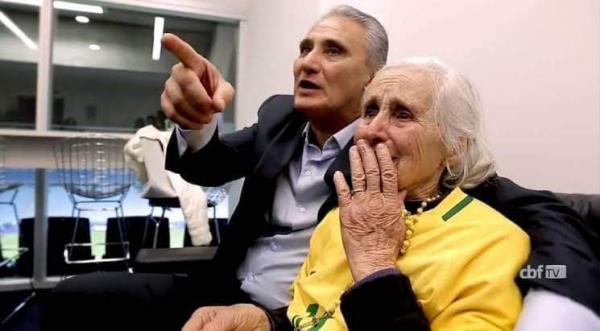 Morre aos 83 anos Dona Ivone, mãe do Tite, técnico da seleção