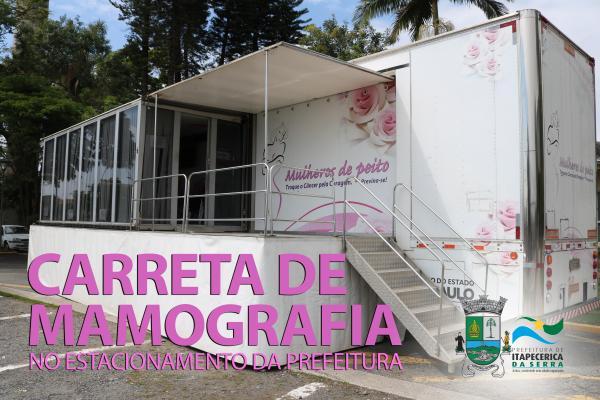 Carreta de mamografia fica até 9 de maio em Itapecerica da Serra