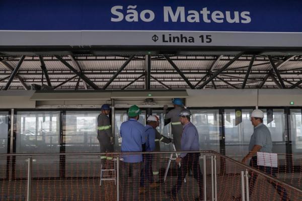 Retoma as obras da Estação São Mateus, Linha 15-Prata, do monotrilho