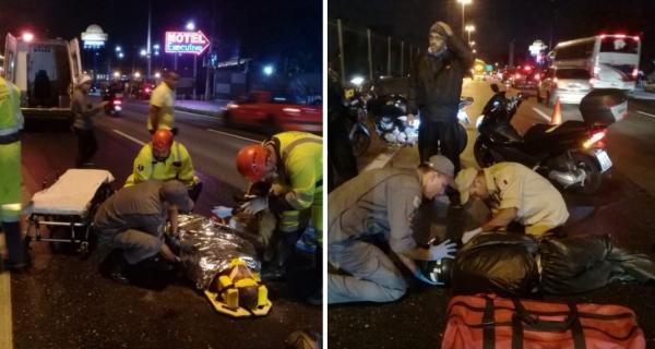 Acidentes vitimam dois motoqueiros na BR-116, em Taboão da Serra