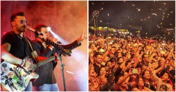 Público lota o show em Cotia com os sertanejos Marcos & Belutti