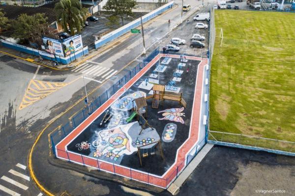 Prefeitura de Cotia revitaliza área de lazer ao lado do estádio de Caucaia do Alto