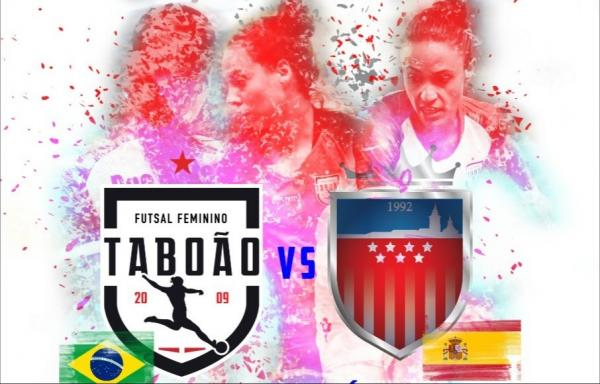 Futsal de Taboão da Serra vai jogar contra o Atlético de Madrid neste mês