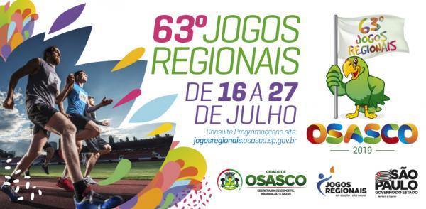 Osasco : Abertura dos Jogos Regionais acontece na próxima terça-feira,16
