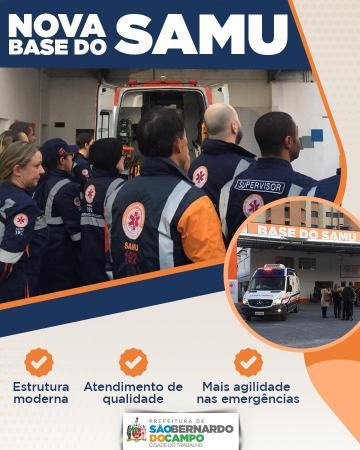 São Bernardo do Campo ganha base do SAMU