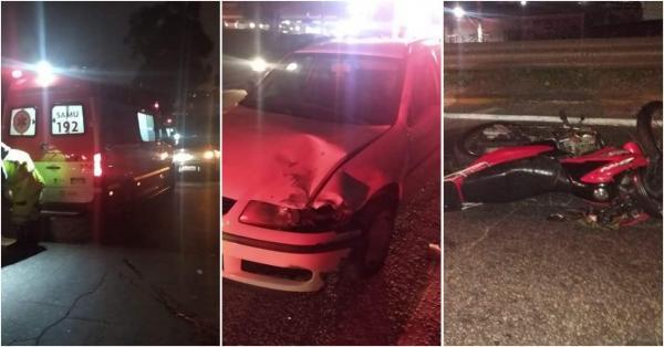 Acidente em Taboão da Serra entre moto e carro deixa vítimas