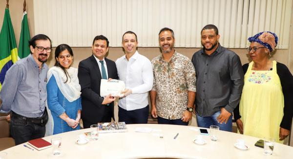 Osasco SP : Consul indiano é recebido pelo prefeito Rogério Lins