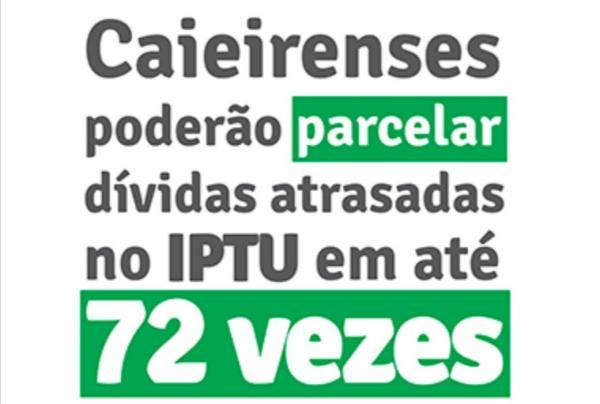 Caieiras: moradores poderão parcelar dívidas atrasadas no IPTU em até 72 vezes