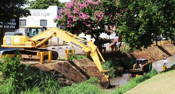 Mogi Mirim SP : Prefeitura realiza serviços de limpeza no Córrego Lavapés