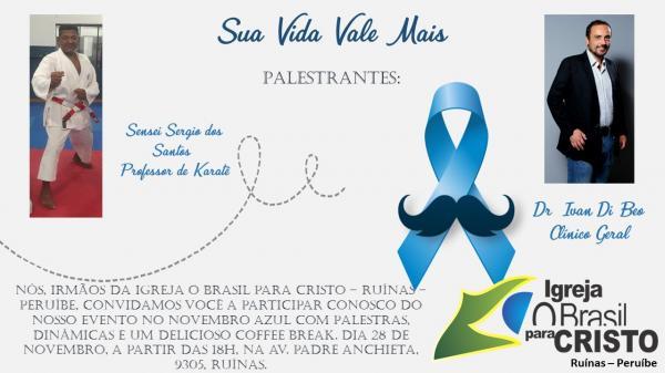 Peruíbe terá evento sobre o Novembro Azul no dia 28