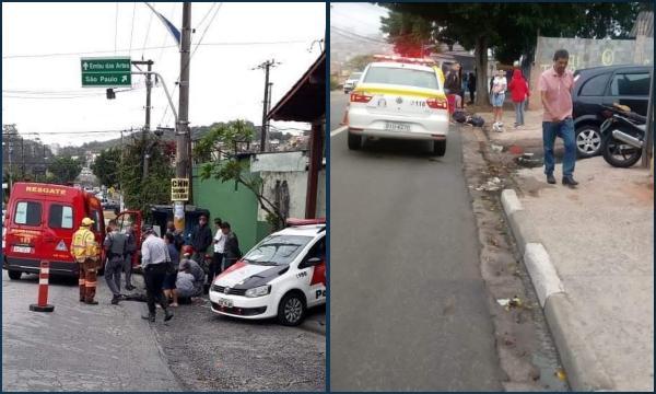 Taboão da Serra teve dois acidentes nesta segunda-feira, 2