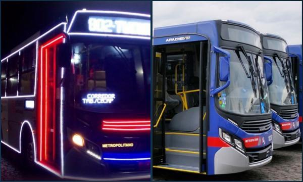 Ônibus intermunicipais de Taboão da Serra são decorados para o Natal