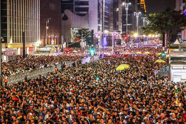 São Paulo SP : Réveillon na Paulista reuniu destaques da música nacional