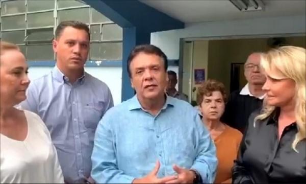 Prefeito de Taboão da Serra, Fernando Fernandes, concedeu entrevista à Rádio Bandeirantes