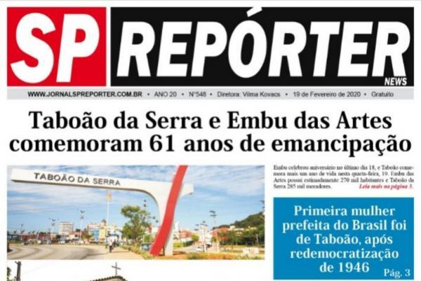 Jornal SP Repórter aborda aniversário de Taboão da Serra e Embu das Artes