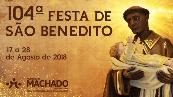 Tradicional Festa de São Benedito em Machado -MG começa dia 17 de agosto