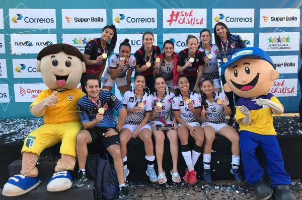 Futsal feminino de Taboão da Serra é campeão dos Jogos Universitários em Campo Grande