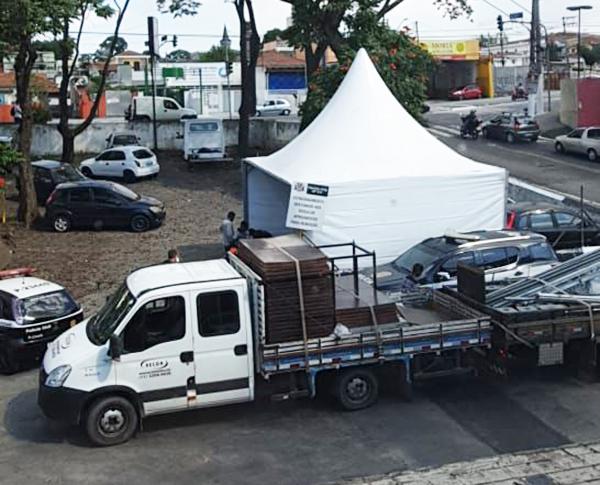 Polícia Civil cede espaço para a implantação de Posto Móvel de Vacinação - Foto: Polícia Civil de SP