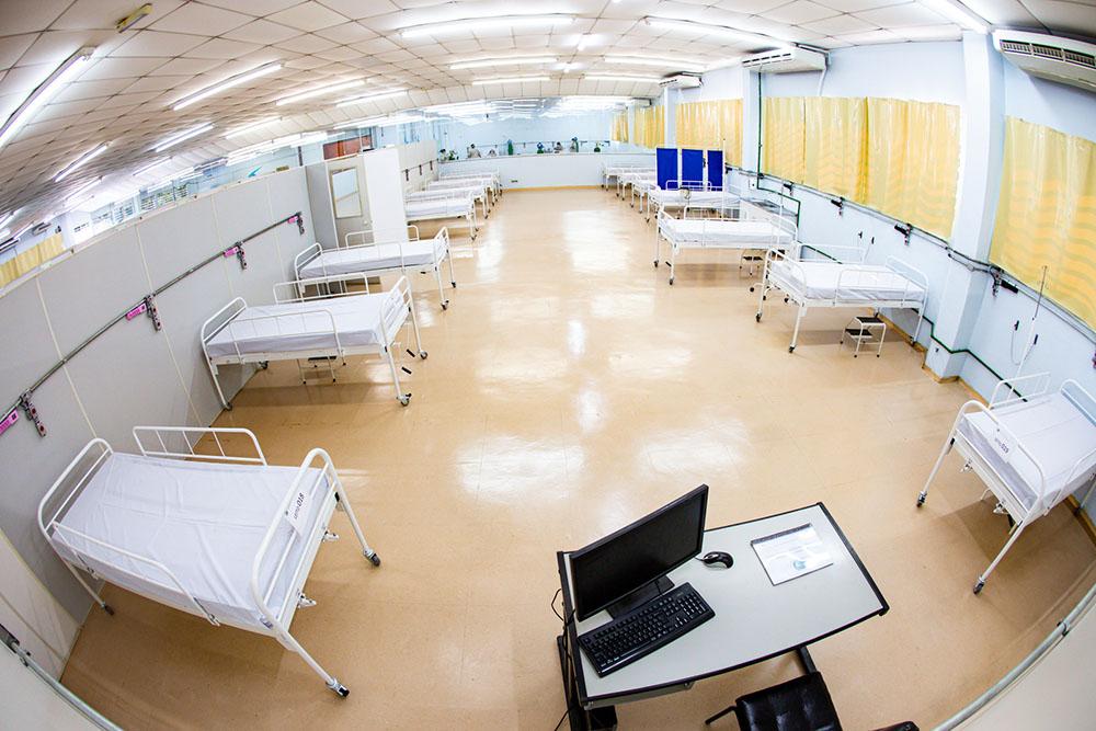 Em Taboão da Serra, o Hospital de Campanha começou a funcionar no dia 6 de abril - Foto: PMTS
