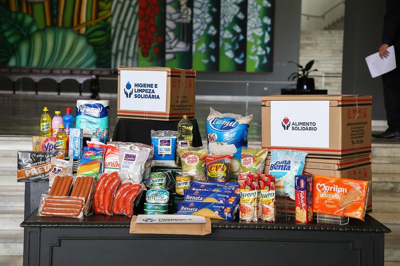 Governo começa a distribuir cestas de alimentos para população em extrema pobreza - Foto : Gov. SP