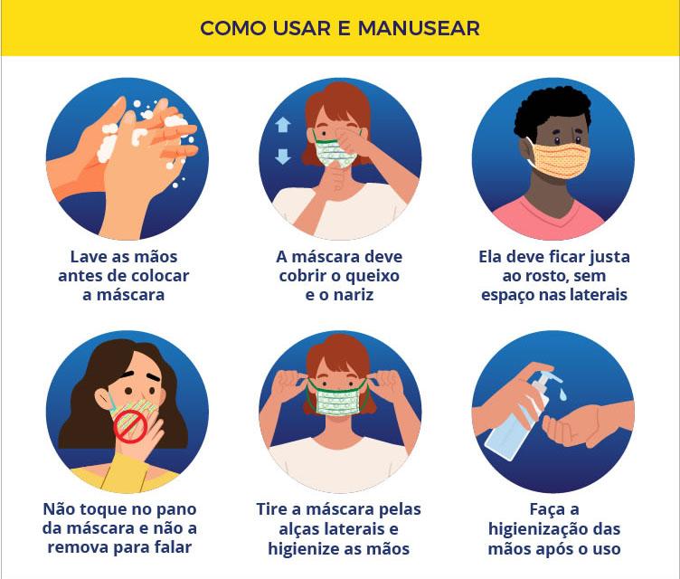 Saiba os cuidados e orientações para usar máscaras caseiras