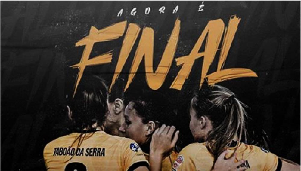 Vote no futsal feminino de Taboão da Serra na final do Brasileiro de Futsal Online