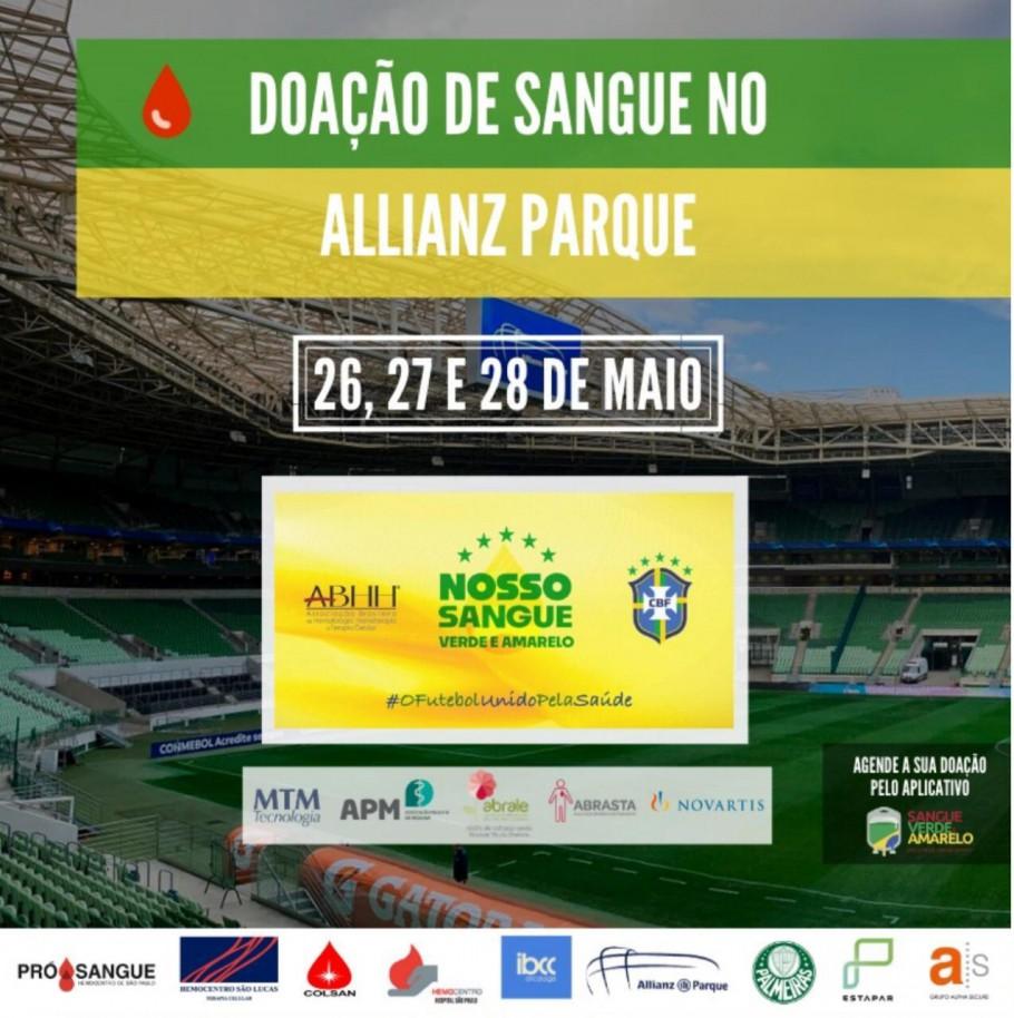Sangue Verde e Amarelo e Palmeiras promovem campanha de doação de sangue no Allianz Parque