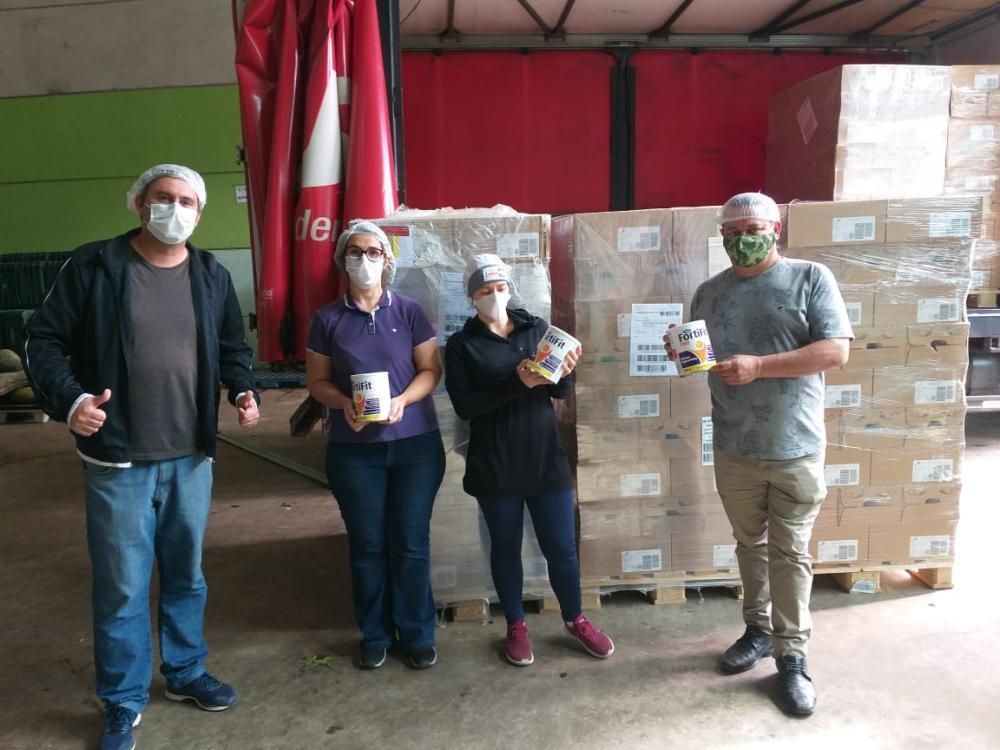 Embu das Artes: Banco de Alimentos recebe doação de produtos do Grupo Danone