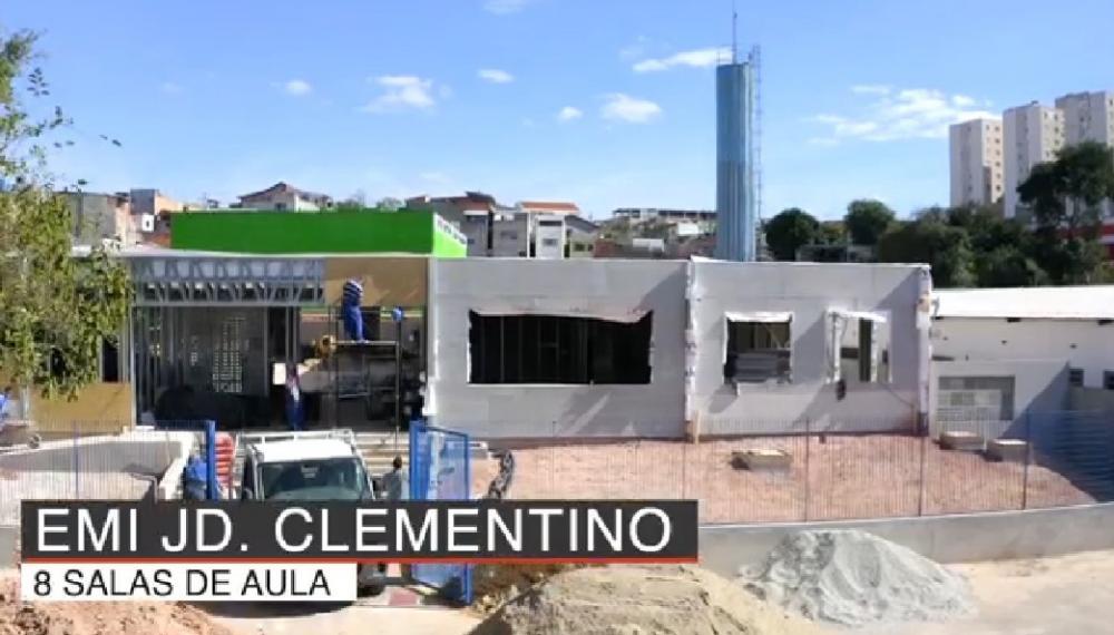 Construção da EMI Clementino é uma das várias obras que estão sendo feitas pela Prefeitura. Foto: Reprodução