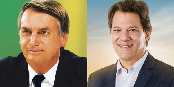 Bolsonaro e Haddad vão ao 2ºturno na eleição para presidente do Brasil