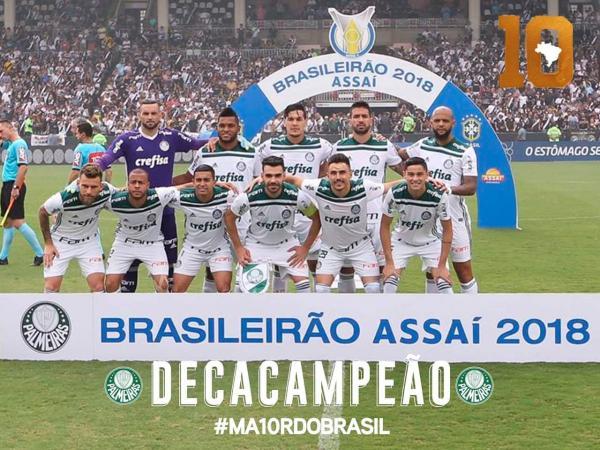 Com títulos recentes, Palmeiras domina futebol do Brasil com folga